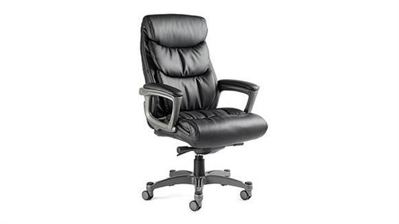 Office Chairs Samsonite Lisbon Bonded Leather Chair with Memory Foam
