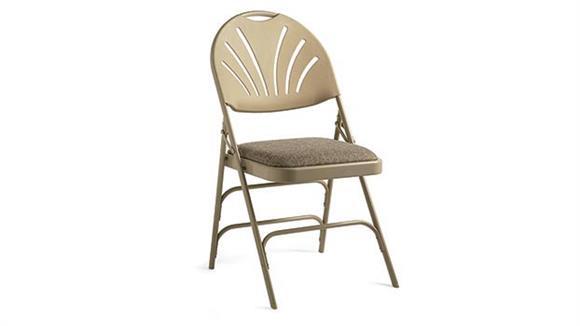 Folding Chairs Samsonite Fanback Steel & Fabric Heavy Duty Folding Chair