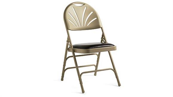 Folding Chairs Samsonite Fanback Steel & Bonded Leather Folding Chair