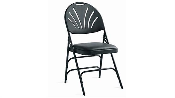 Folding Chairs Samsonite Fanback Steel & Vinyl Heavy Duty Folding Chair