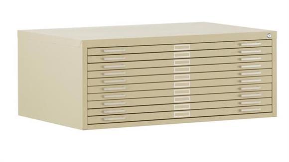 Flat File Cabinets Sandusky Lee 10 Drawer Flat File