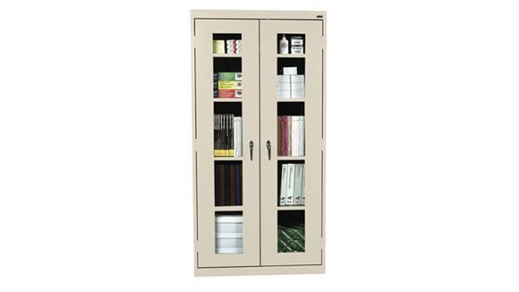 "Storage Cabinets Sandusky Lee 36""W x 12""D x 72""H  Clear View Storage Cabinet"