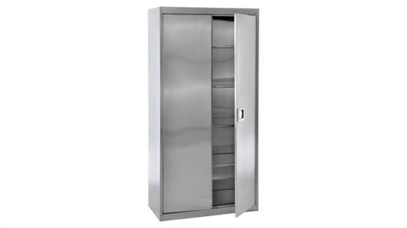 "Storage Cabinets Sandusky Lee 48""W x 24""D x 78""H  Stainless Steel Storage Cabinet"