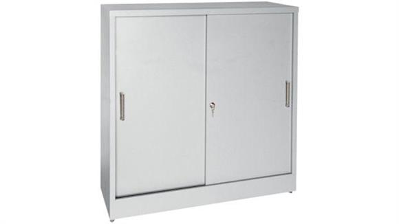 "Storage Cabinets Sandusky Lee 36""W x 18""D x 42""H Sliding Door Storage Cabinet"