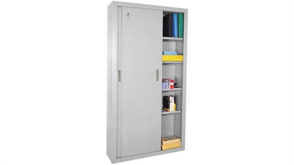 "Storage Cabinets Sandusky Lee 36""W x 18""D x 72""H  Sliding Door Storage Cabinet"