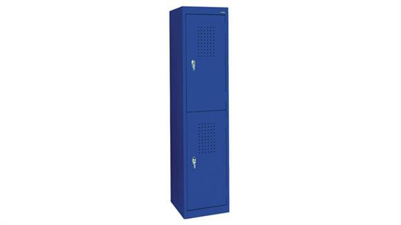 """Lockers Sandusky Lee 15""""W x 18""""D x 66""""H  Double Tier Storage Locker"""