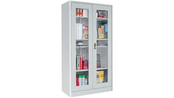 "Storage Cabinets Sandusky Lee 36""W x 18""D x 72""H  Radius Edge Clearview Storage Cabinet"
