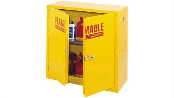 "Storage Cabinets Sandusky Lee 35""W x 22""D x 35""H  Compact Flammable Safety Cabinet"