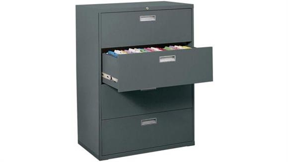 "File Cabinets Lateral Sandusky Lee 36""W  4 Drawer Lateral File"
