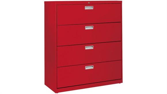 "File Cabinets Lateral Sandusky Lee 42""W  4 Drawer Lateral File"