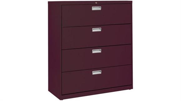 """File Cabinets Lateral Sandusky Lee 42""""W  4 Drawer Lateral File"""