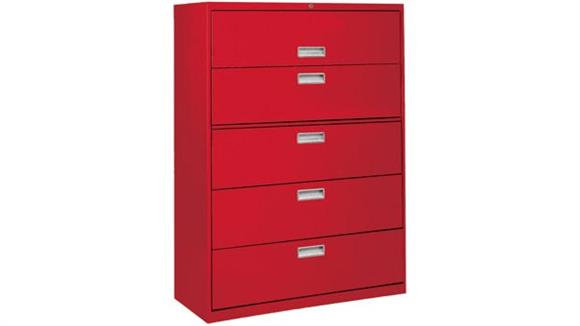 "File Cabinets Lateral Sandusky Lee 42""W  5 Drawer Lateral File"