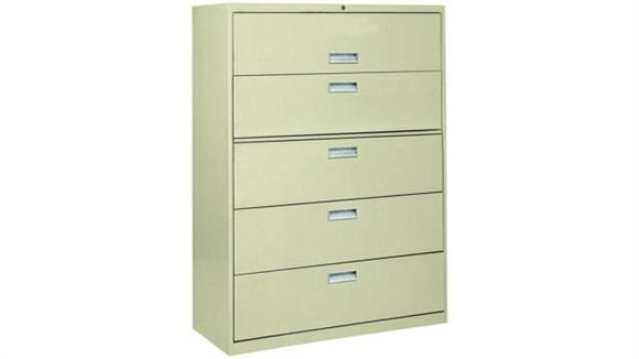 """File Cabinets Lateral Sandusky Lee 42""""W  5 Drawer Lateral File"""
