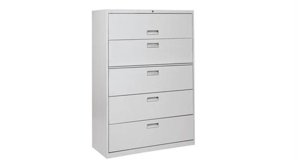 "File Cabinets Lateral Sandusky Lee 42""W x 19.25""D x 65""H  5 Drawer Lateral File"