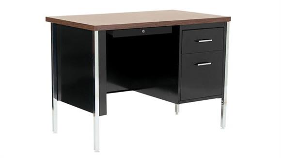"Steel & Metal Desks Sandusky Lee 48"" x 24"" Single Pedestal Steel Desk"