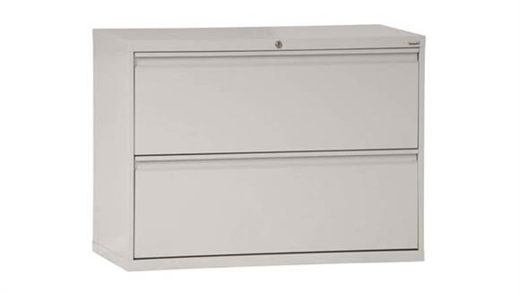 "File Cabinets Lateral Sandusky Lee 42""W  2 Drawer Lateral File"