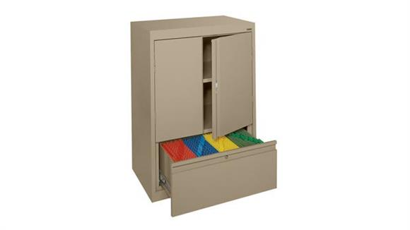 Storage Cabinets Sandusky Lee Counter Height Storage Cabinet with File Drawer