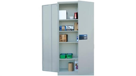 "Storage Cabinets Sandusky Lee 36""W x 18""D x 72""H  Snap It Storage Cabinet with Electronic Lock"