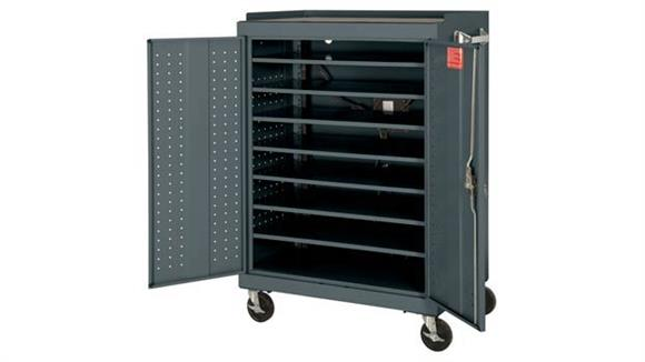 "Storage Cabinets Sandusky Lee 46""W x 24""D x 52""H  Mobile Laptop Security Cabinet with Power Charge System"