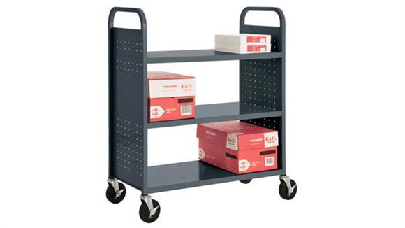 Book & Library Carts Sandusky Lee Flat Shelf Booktruck