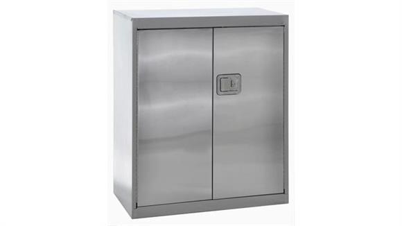 "Storage Cabinets Sandusky Lee 36""W x 18""D x 42""H  Stainless Steel Storage Cabinet"