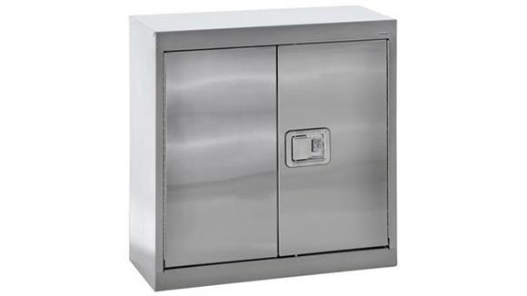"Storage Cabinets Sandusky Lee 30""W x 12""D x 30""H  Stainless Steel Storage Cabinet"