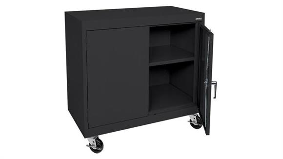 "Storage Cabinets Sandusky Lee 36""W x 18""D x 36""H Transport Mobile Storage Cabinet"