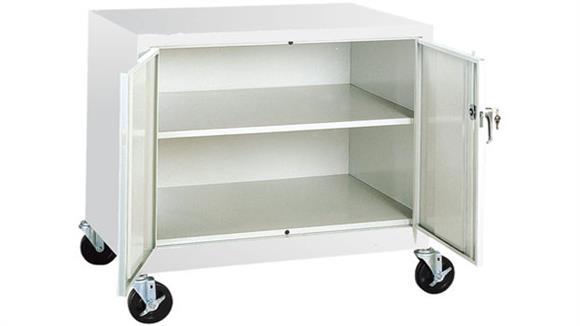 "Storage Cabinets Sandusky Lee 36""W x 24""D x 36""H Mobile Storage Cabinet"