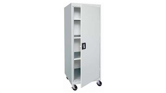 "Storage Cabinets Sandusky Lee 24""W x 24""D x 66""H Transport Mobile Storage Cabinet"