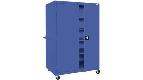 "Storage Cabinets Sandusky Lee 36""W x 24""D x 66""H Mobile Storage Cabinet"