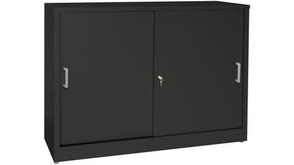 """Storage Cabinets Sandusky Lee 36""""W x 18""""D x 29""""H Sliding Door Storage Cabinet"""