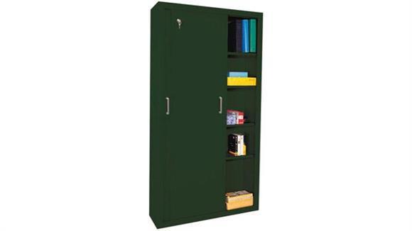 """Storage Cabinets Sandusky Lee 36""""W x 18""""D x 72""""H  Sliding Door Storage Cabinet"""