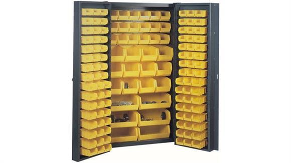 "Storage Cabinets Sandusky Lee 38""W x 24""D x 72""H Pocket Door Cabinet with Bins"