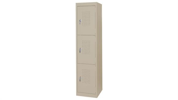 "Lockers Sandusky Lee 15""W x 18""D x 66""H  Triple Tier Storage Locker"