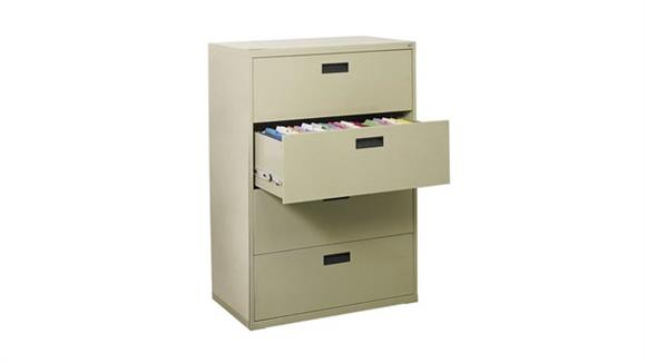 "File Cabinets Lateral Sandusky Lee 30""W x 18""D x 53""H  4 Drawer Lateral File"