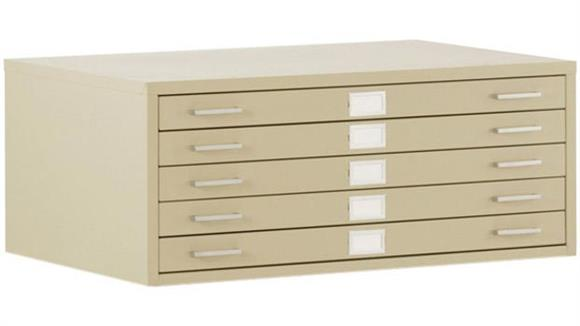 "Flat File Cabinets Sandusky Lee 47""W 5 Drawer Flat File"