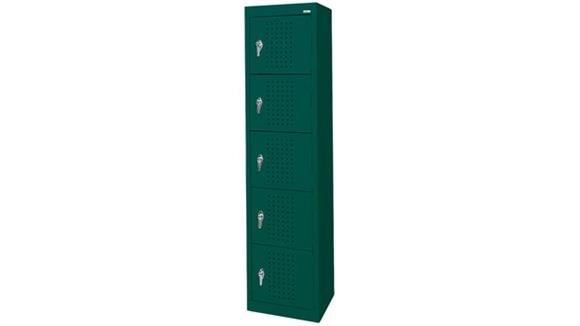 "Lockers Sandusky Lee 15""W x 18""D x 66""H  5 Tier Storage Locker"