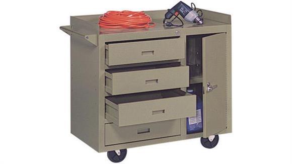 "Storage Cabinets Sandusky Lee 36""W x 22""D x 34""H  Mobile Maintenance Bench"