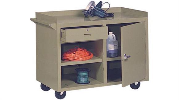 "Storage Cabinets Sandusky Lee 45""W x 22""D x 34""H  Mobile Maintenance Bench"