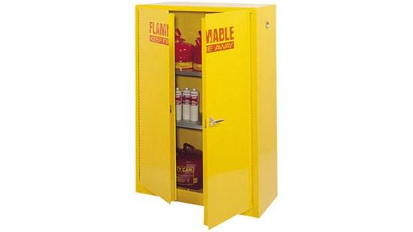 "Storage Cabinets Sandusky Lee 43""W x 18""D x 65""H  Flammable Safety Cabinet"