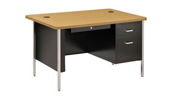 "Steel & Metal Desks Sandusky Lee 48"" x 30"" Single Pedestal Steel Desk"