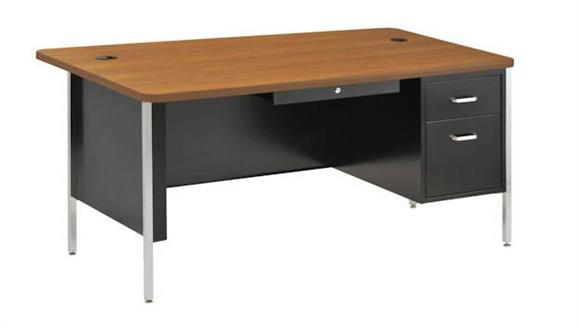 "Steel & Metal Desks Sandusky Lee 60"" x 30"" Single Pedestal Steel Desk"