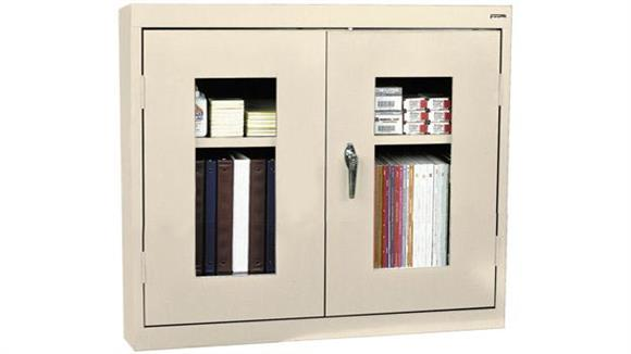 "Storage Cabinets Sandusky Lee 30""W x 12""D x 26""H Clear View Wall Cabinet"