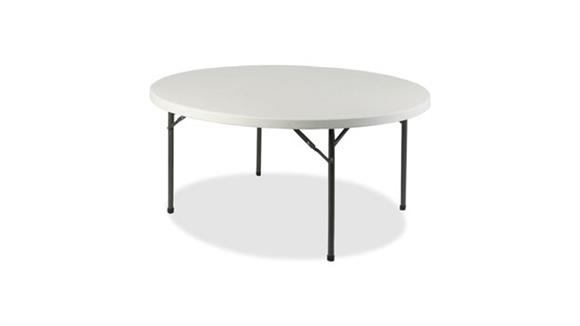 "Folding Tables Lorell 71"" Round Ultra Lite Banquet Table"