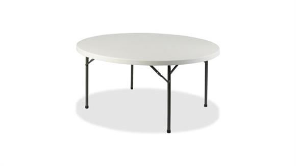"Folding Tables Lorell 60"" Round Ultra Lite Banquet Table"