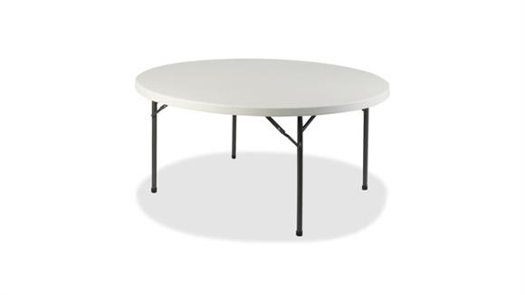 "Folding Tables Lorell 48"" Round Ultra Lite Banquet Table"