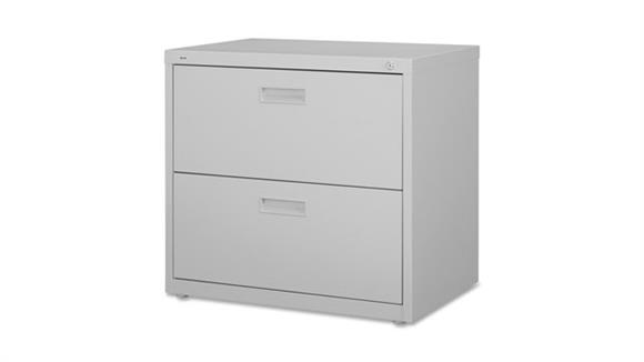 """File Cabinets Lateral Lorell 30""""W  2 Drawer Lateral File"""