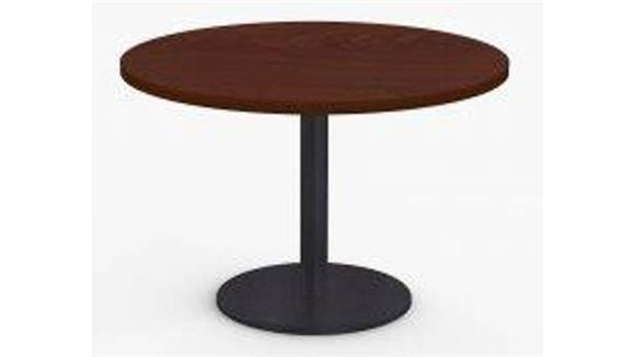 "Cafeteria Tables Special T 36"" Breakroom and Hospitality Round Table, Round Base"