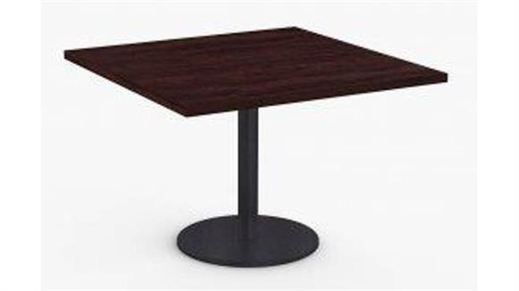 "Cafeteria Tables Special T 36"" x 36"" Breakroom and Hospitality Table, Round Base"