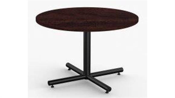 "Cafeteria Tables Special T 36"" Breakroom and Hospitality Round Table, X-Base"